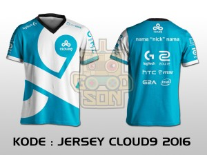 JERSEY / KAOS TEAM GAMING DOTA 2 CLOUD9 2016