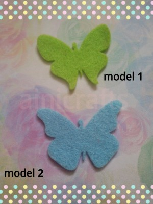 Aplikasi Flanel Kupu-kupu sedang