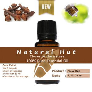 100% PURE ESSENTIAL OIL (CLOVE BUD) - 5ml