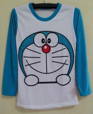 Kaos Atasan LP Doraemon Face Smile (Uk. S)