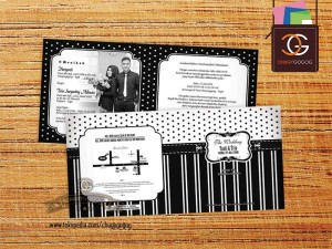 UNDANGAN PERNIKAHAN / WEDDING CARD MONOCROME