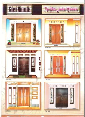 Nama Warna Cat Rumah Minimalis  kusen pintu panil minimalis