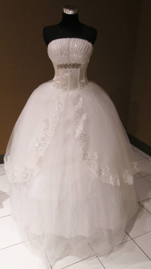 wedding gown non ekor layer