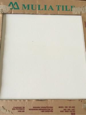 Jual  keramik  lantai  40x40  putih polos merk MULIA Kota