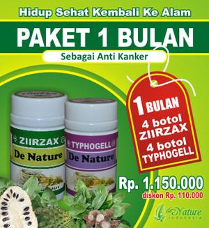 Ziirzax dan Typhogell : Obat Kanker Herbal Ampuh de Nature