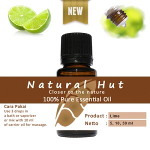 100% PURE ESSENTIAL OIL (LIME - LIMAU) - 5ml