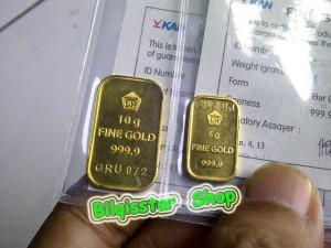 Emas Logam Mulia Fine Gold 15 Gram Bersertifikat Murni 999,9% Jatim
