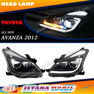 Headlamp All New Avanza / xenia / Veloz Projector Led Black Housing