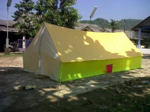 Tenda Pramuka regu kap 12 siswa/ 10 dewasa bahan dakota