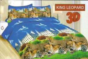 Sprei Disperse 3D BONITA 180×200 Murah Motif KING LEOPARD