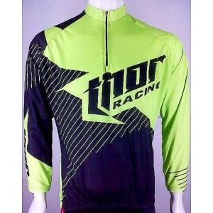 Kaos / Jersey Sepeda Thor Hijau Hitam New Design