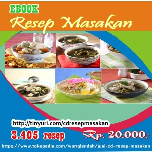 jual CD resep masakan