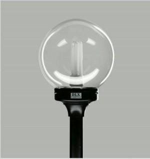 Lampu Taman Bulat Bening Diameter 225cm