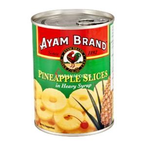 Potongan Nenas Kalengan Ayam Brand Pineapple Slices 565g