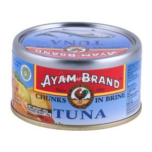 Tuna Air Garam Kalengan Ayam Brand Tuna Chunks in Brine 185g