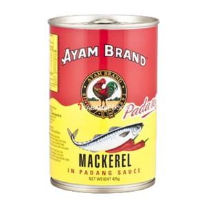 Makerel Saus Padang Kalengan Ayam Brand Mackerel in Padang Sauce 425g