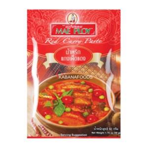 Bumbu Instan Kari Merah Mae Ploy Thai Red Curry Paste 50g