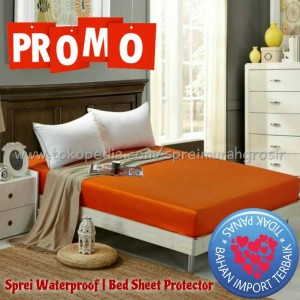 Sprei Waterproof 200x200x25 super king polos seprei anti air ompol