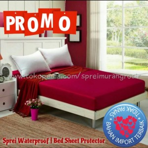 Sprei Waterproof 180x200x25 seprei no.1 king polos anti air ompol