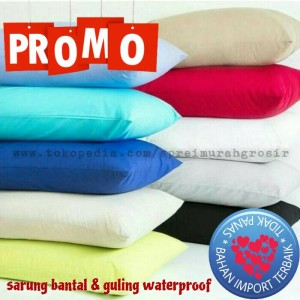 Sarung bantal/guling waterproof