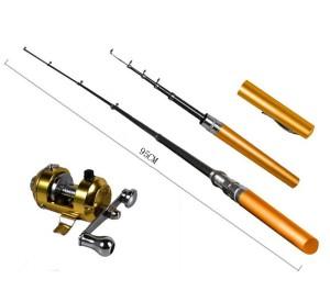 Color Fish Rod Pen pocket fishing- alat pancing