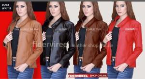 jaket kulit wanita  gaul & keren harga murah grosiran