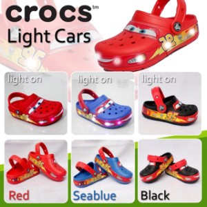Sandal Sepatu Crocs Cars LED for Kids