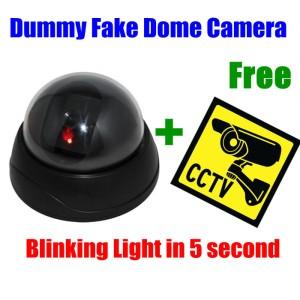 cctv kamera camera penginta tiruan dummy LED LIGHT