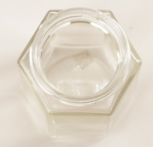 Botol Jar Toples Kaca : 195ml Segienam (Hexagon), TANPA Tutup