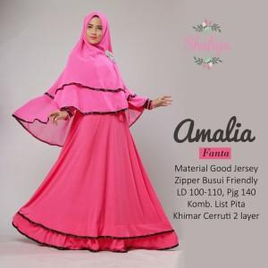 Baju Muslim Syari Setelan Dress dan Khimar Original