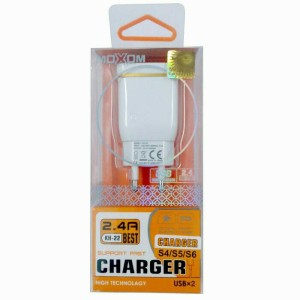 Charger Moxom Dual Port USB 2.4VFor Android & IOS Fast Charging