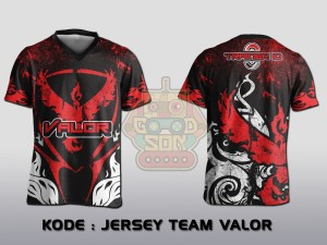 JERSEY / KAOS POKEMON GO TEAM VALOR