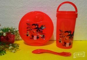 Set Lunch box + botol / tempat bekal anak / kotak makan