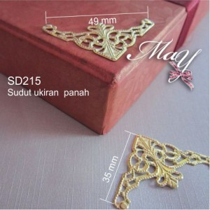 Ornamen Sudut box/kotak emas. SD215