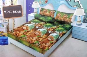 Sprei D'luxe Kintakun ukuran 120 x 200 – Woll Bear