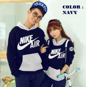 Jaket Couple / Baju Pasangan / sweater nike air navy