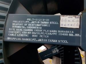 Kabel 150 Kv CU / XLPE / CAS/ PE 1 x 400 SQ. MM.