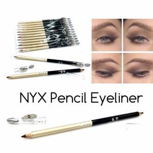 NYX Pencil EYELINER 2 in 1 ( eyebrow eyeliner hitam coklat )