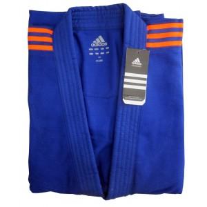 Seragam Baju Judo Gi Biru Adidas Club Blue /Orange J350