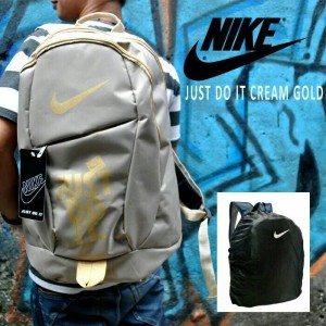 Tas Ransel Nike Just Do It Grey Free Rain Cover
