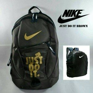 Tas Ransel Nike Just Do It Black Free Rain Cover
