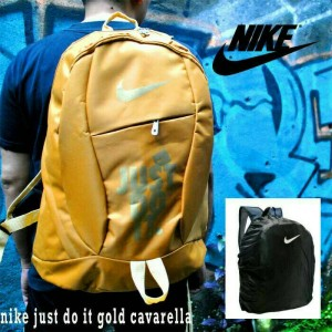 Tas Ransel Nike Just Do It Gold Free Rain Cover