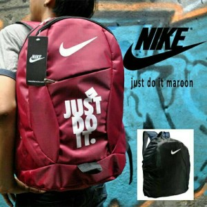 Tas Ransel Nike Just Do It Red Free Rain Cover