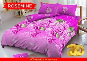 Bedcover D'luxe Kintakun ukuran 180 x 200 – Rosemine