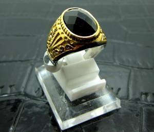 Cincin Titanium Import Gold Pria / Cowok Onyx Oval 3