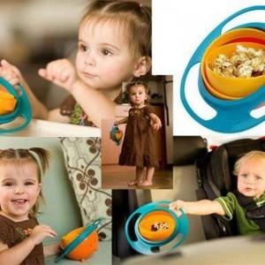 UNIVERSAL GYRO BOWL MANGKUK AJAIB ANTI TUMPAH GYROBOWL FOOD BABY BAYI