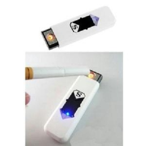 ... Korek Elektrik USB Lambang & 34 S & 34 Bodi Putih Bagian