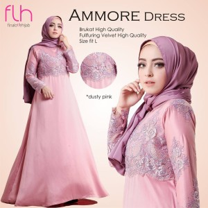 Busana Muslim Cantik Original Ammore Dress