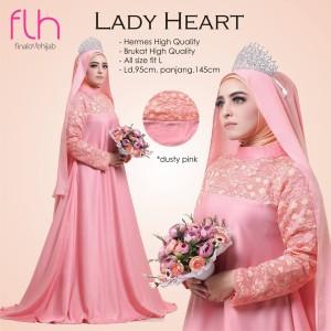 Baju Pesta Muslim Lady Heart Original