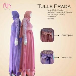 Busana Muslim Cantik Terbaru Tulle Prada Original